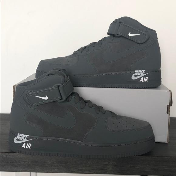 AIR FORCE 1 MID 07 DARK GREYDARK GREY WHITE Nike Brands